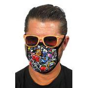 Υφασμάτινη Μάσκα Προσώπου Graffiti