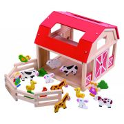 Ξύλινη Φάρμα με Ζώα Tooky Toy