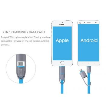 Καλώδιο Φόρτισης iPhone Android 2 in 1