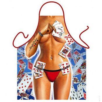 Αστεία Ποδιά Πόκερ Γυναικεία