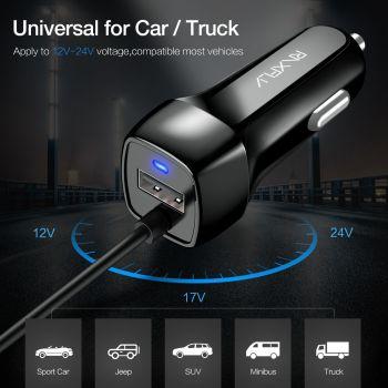 Φορτιστής Αυτοκινήτου Micro Usb + 1 Usb port