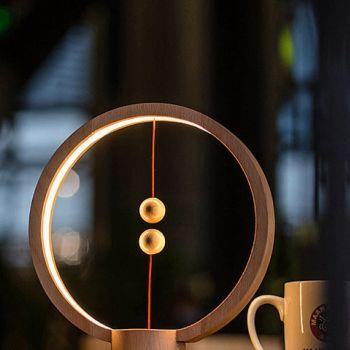 Μαγνητική Λάμπα Heng Ξύλινη Στρογγυλή