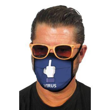 Υφασμάτινη Μάσκα Προσώπου F*ck Virus