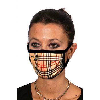 Υφασμάτινη Μάσκα Προσώπου Καρό