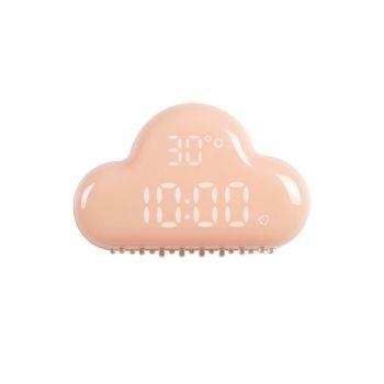 Παιδικό Ρολόι Ξυπνητήρι Θερμόμετρο Ροζ