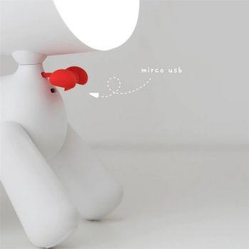 Φωτιστικό Κουταβάκι PuppyLamp by Allocacoc Λευκό