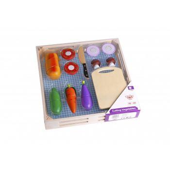 Ξύλινα Λαχανικά με Εργαλείο Κοπής & Δίσκο Tooky Toy