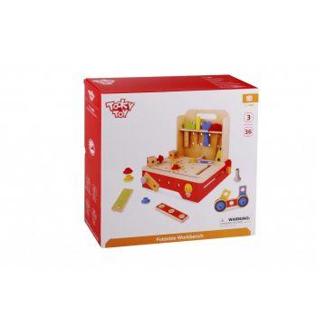 Ξύλινος Μικρός Πάγκος Εργαλείων Tooky Toy